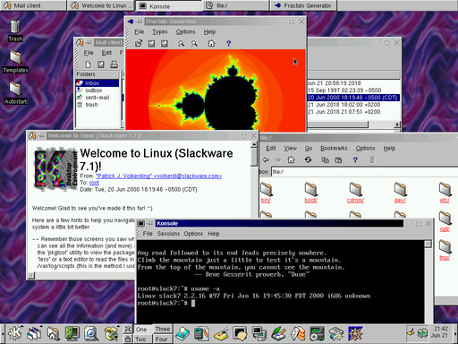 KDE 1.2.1 on Slackware Linux 7.1
